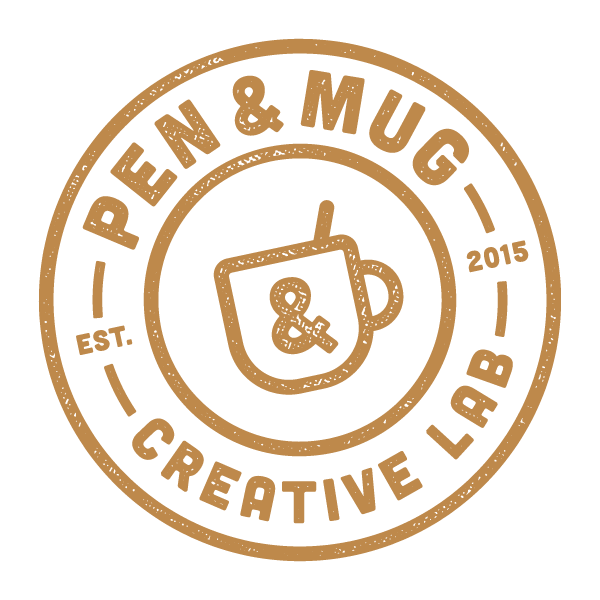 Pen & Mug creative lab stamp