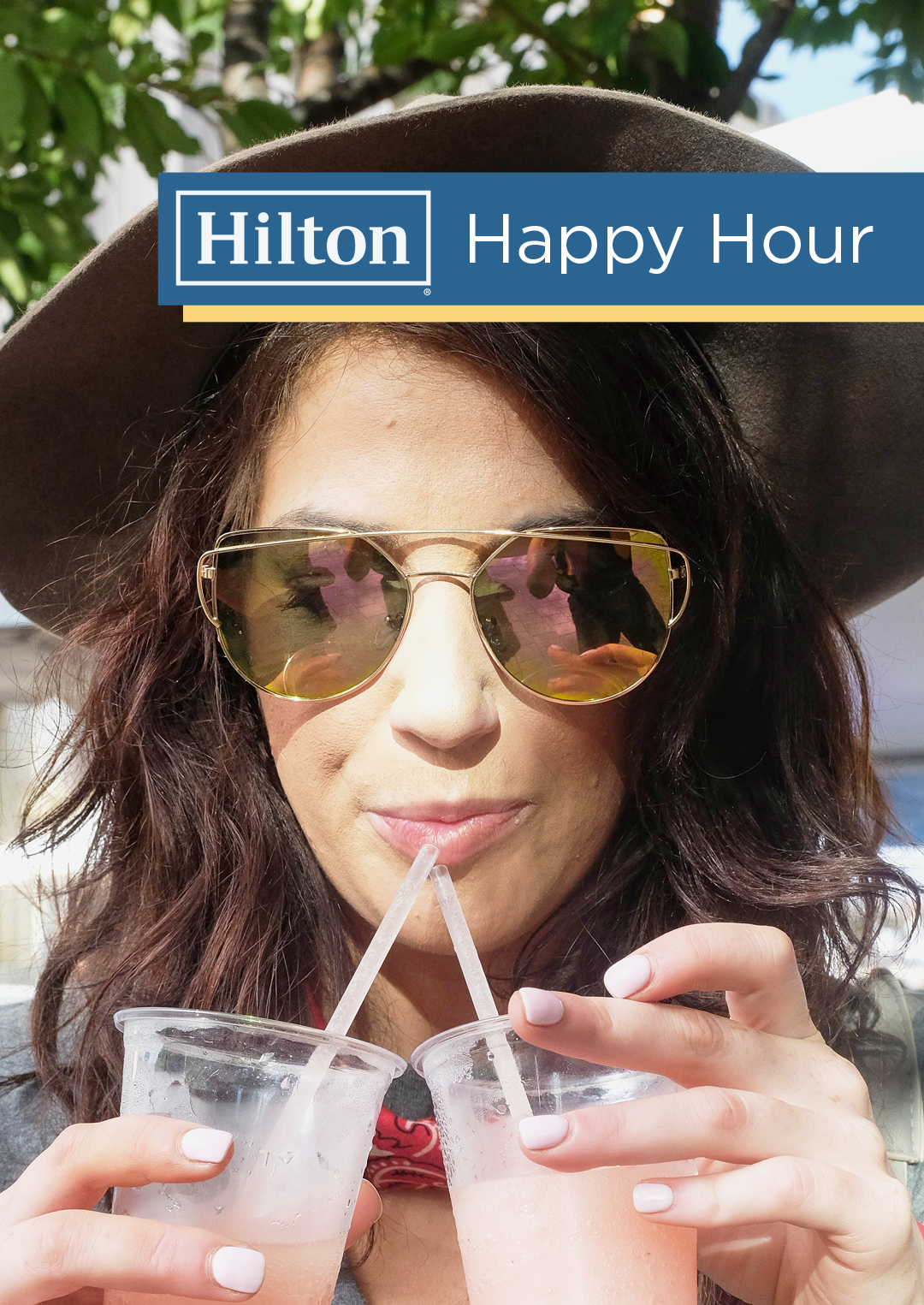 Hilton Happy Hour promo graphic