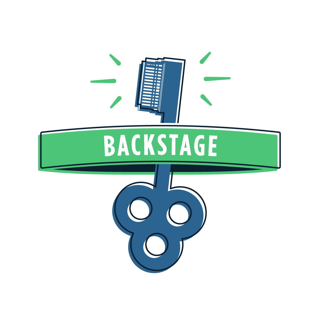 custom illustration for backstage passes