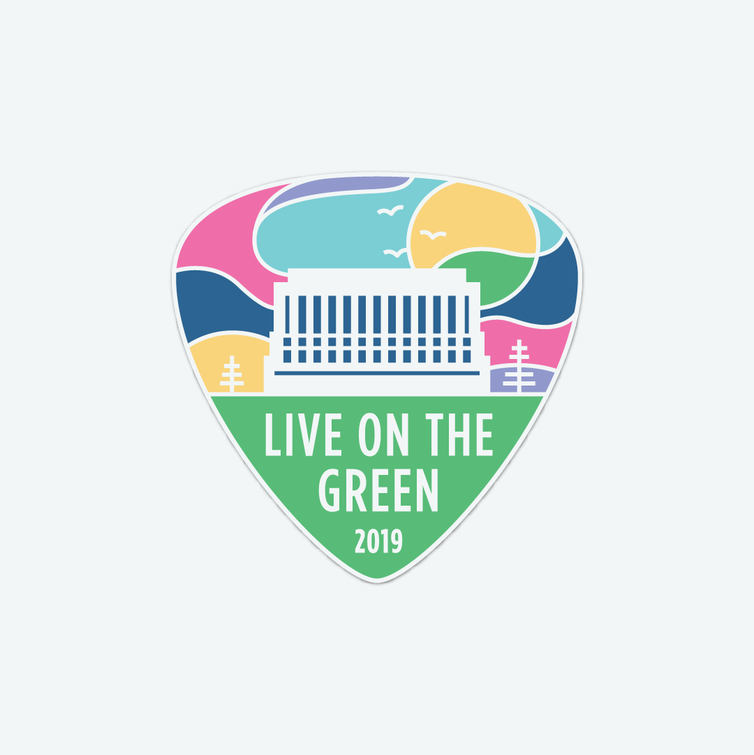Live On The Green sticker